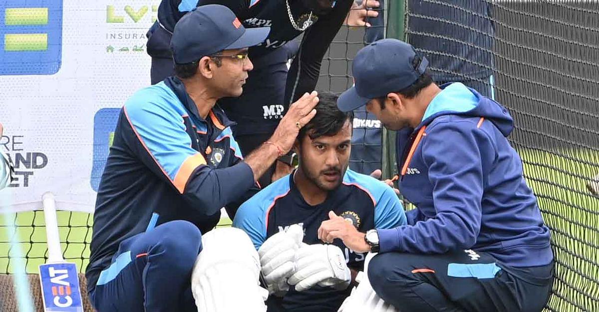 मयंक अग्रवाल इंग्लैंड के खिलाफ पहले टेस्ट से बाहर