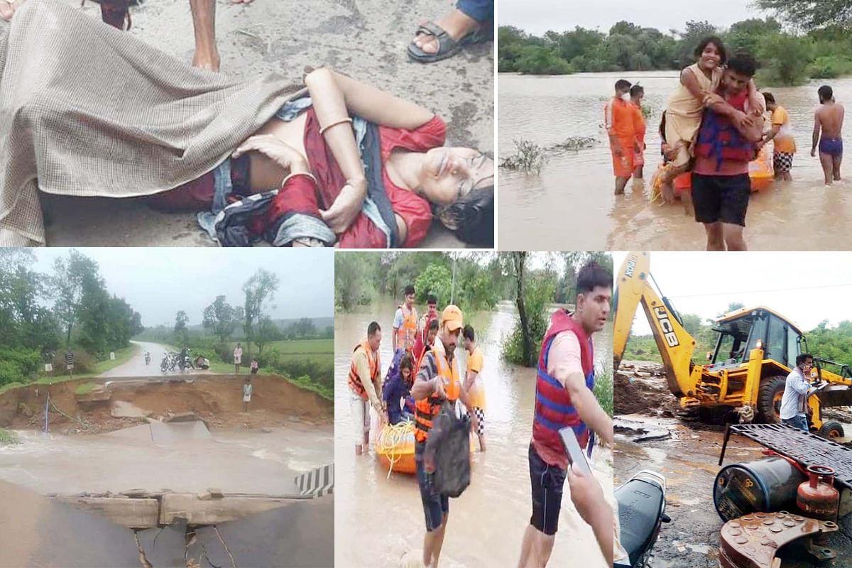 शिवपुरी में फिर उफनी सिंध, सैकड़ों ग्रामीण बाढ़ में फंसे, एक महिला की मौत