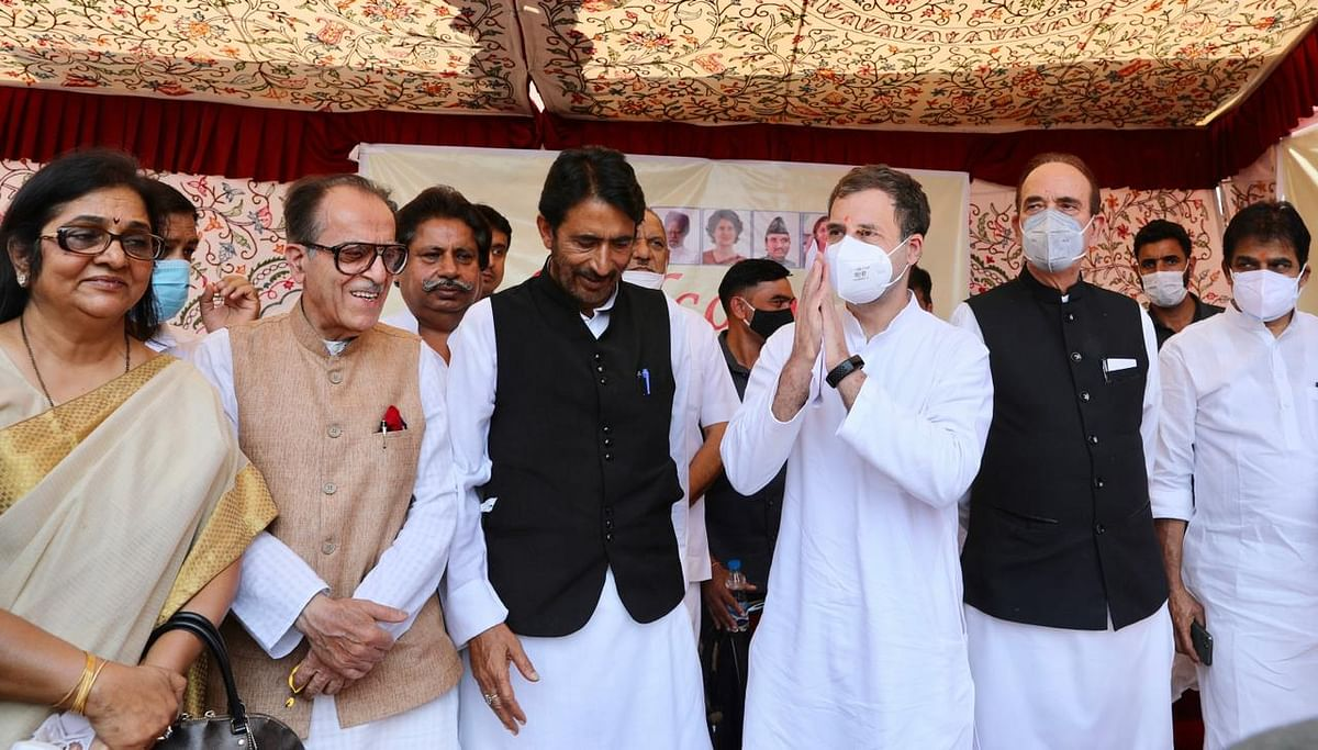 J&K में कांग्रेस कार्यालय का उद्घाटन कर बोले राहुल- पूर्ण राज्य का दर्जा मिले वापस
