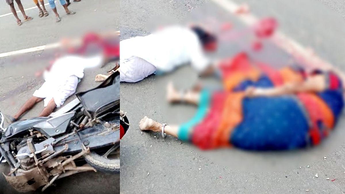 Rajgarh Accident: तेज रफ्तार कंटेनर ट्रक ने बच्ची सहित 3 लोगों को रौंदा, हुई मौत