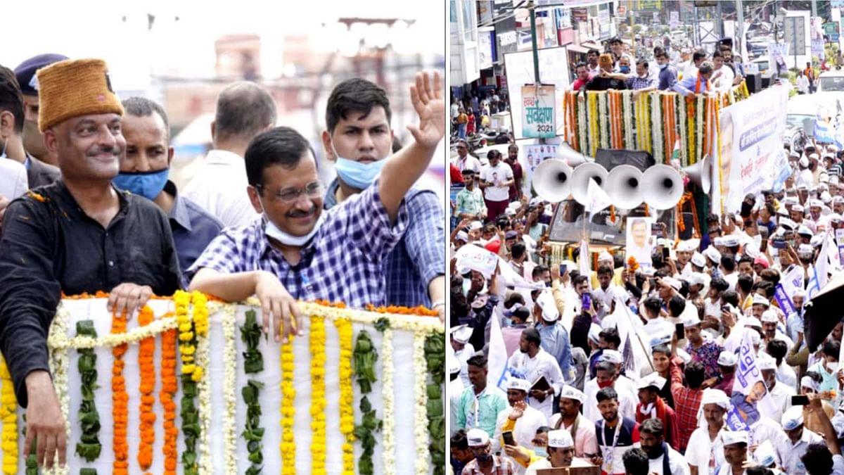 देहरादून में CM केजरीवाल और कर्नल कोठियाल के रोड शो में उमड़ी गजब की भीड़