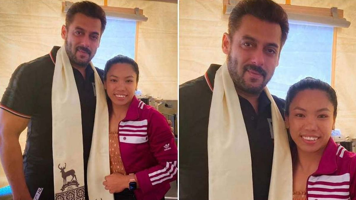 सलमान खान ने की सिल्वर मेडलिस्ट मीराबाई चानू से मुलाकात, फोटो शेयर कर कही यह बात