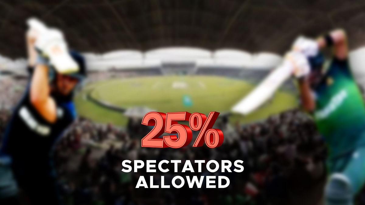 पाकिस्तान - न्यूजीलैंड श्रृंखला के लिए 25 प्रतिशत दर्शकों की अनुमति
