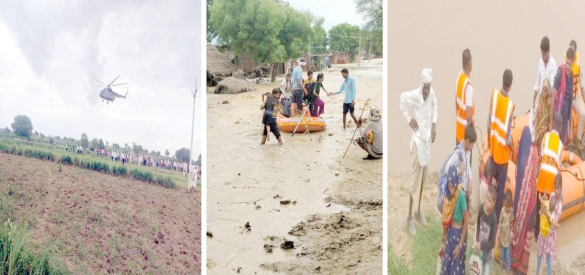 भिण्ड : सिंध नदी के रौद्र रूप से कई गांव हो चुके तबाह