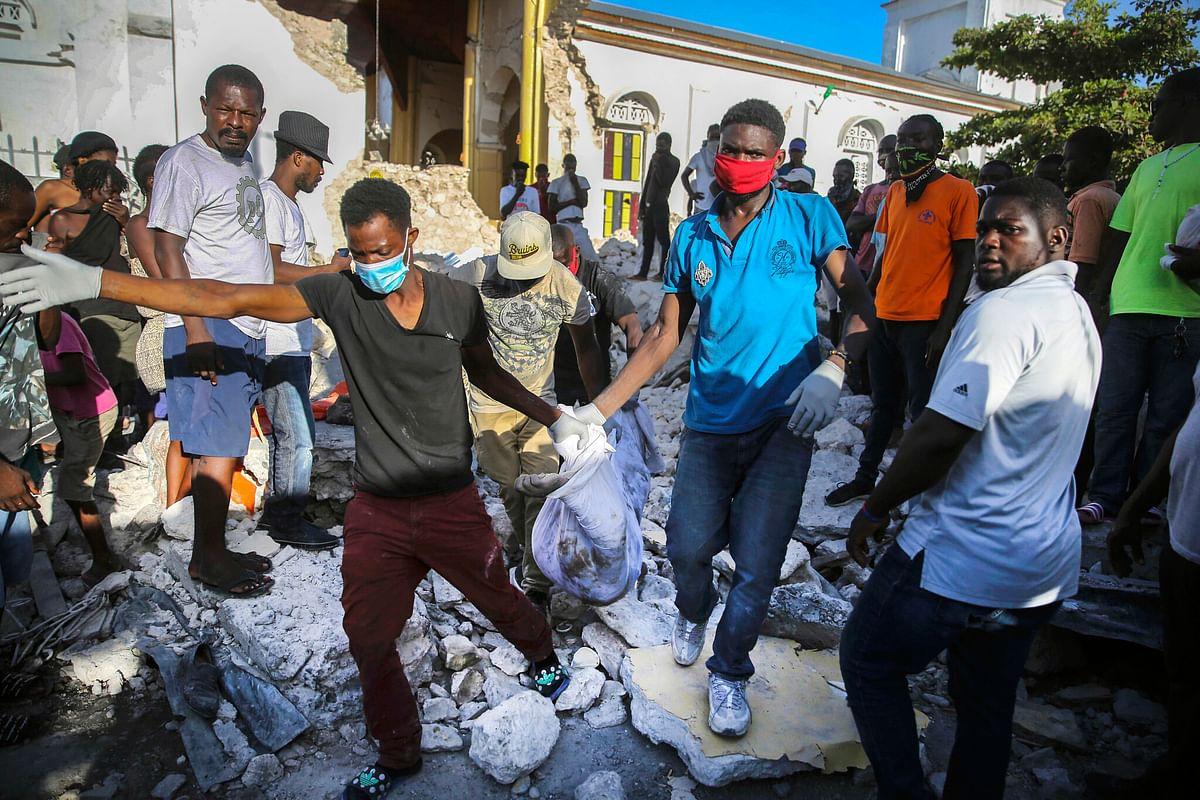हैती में भूकंप से मरने वालों की संख्या 2,189 हुई