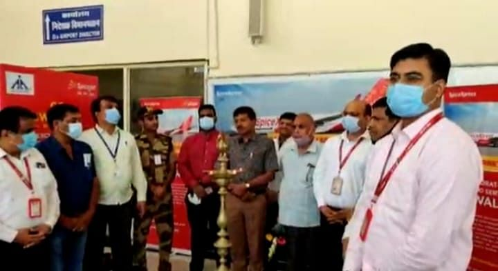 Gwalior : स्पाइस जेट ने ग्वालियर से शुरू की कार्गो सेवा