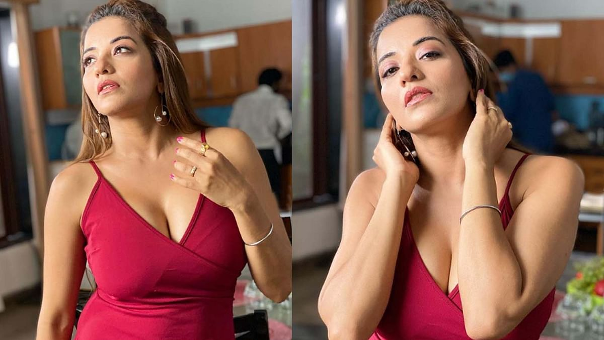 मोनालिसा ने शेयर की रेड ड्रेस में सिजलिंग तस्वीरें, दिखा एक्ट्रेस का दिलकश अंदाज
