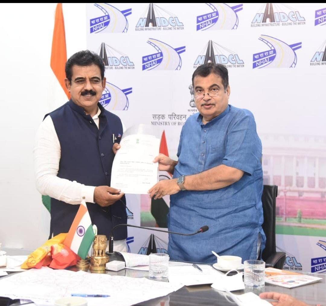 Indore : केंद्रीय परिवहन मंत्री गडकरी से इंदौर के लिए चर्चा