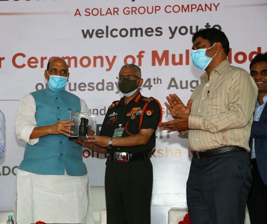 मल्टी मोड हैंड ग्रेनेड भारतीय सेना को सौंपा गया, ये भारत की एक बड़ी उपलब्धि है: राजनाथ