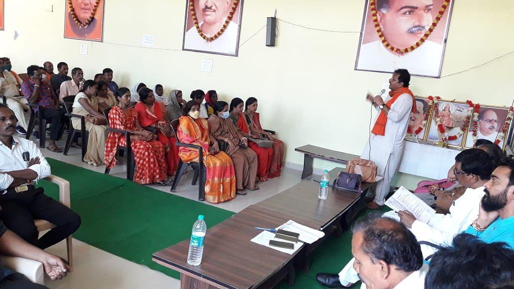 भाजपा कार्यालय में स्वास्थ्य स्वयंसेवकों का मंडल प्रशिक्षण कार्यक्रम हुआ संपन्न