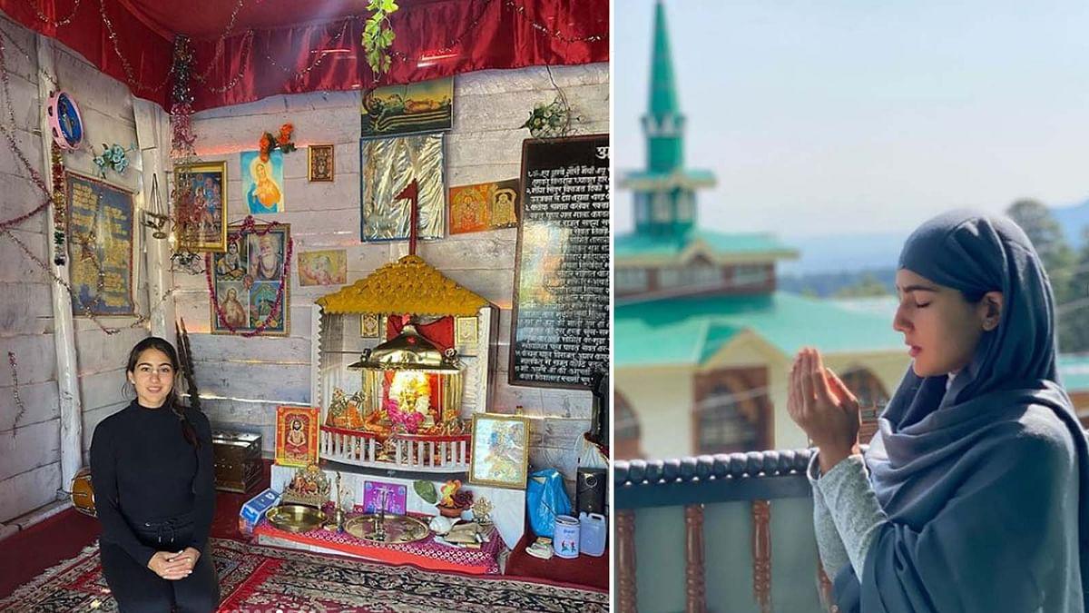 सारा अली खान ने मंदिर-मस्जिद से लेकर गुरुद्वारे और चर्च में की प्रार्थना, दिया ये मैसेज