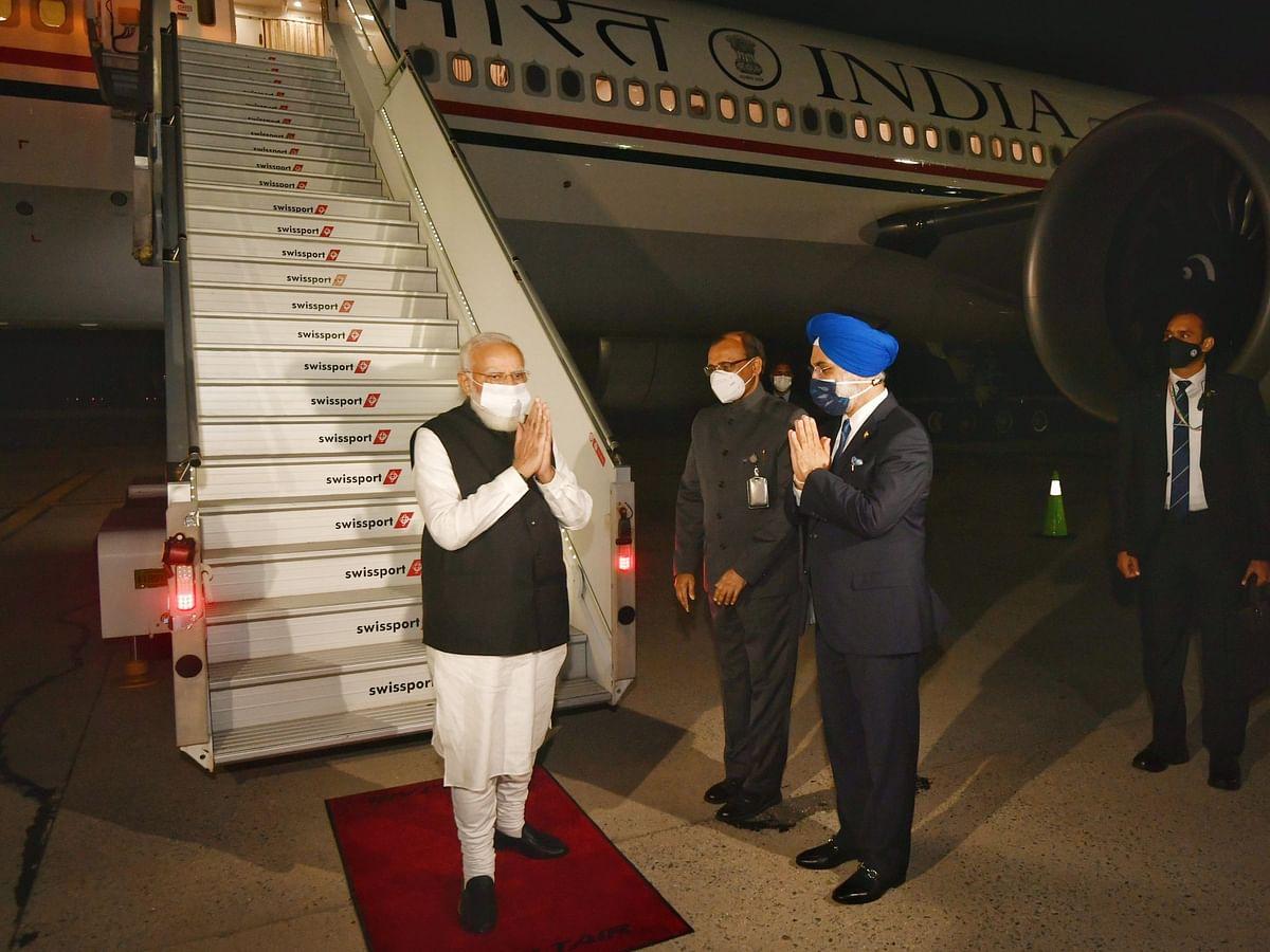 न्यूयॉर्क शहर पहुंचते ही PM मोदी का हुआ भव्य स्वागत