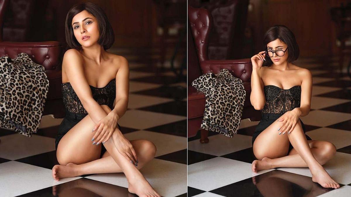 शहनाज गिल ने शेयर की स्ट्रैपलेस ड्रेस में बोल्ड तस्वीरें, दिखीं ग्लैमरस अदाएं