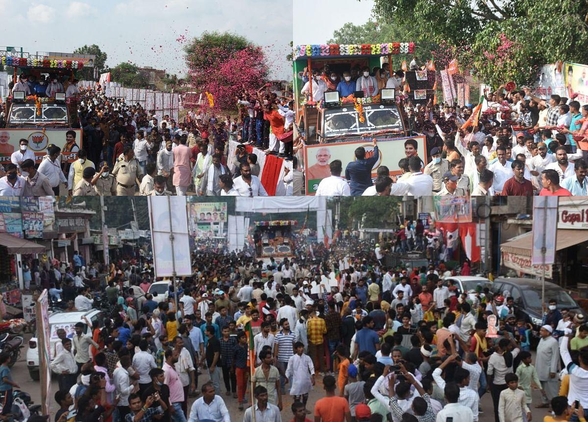 Gwalior : रोड शो के जरिए महाराज ने दिखाया अपना जनाधार
