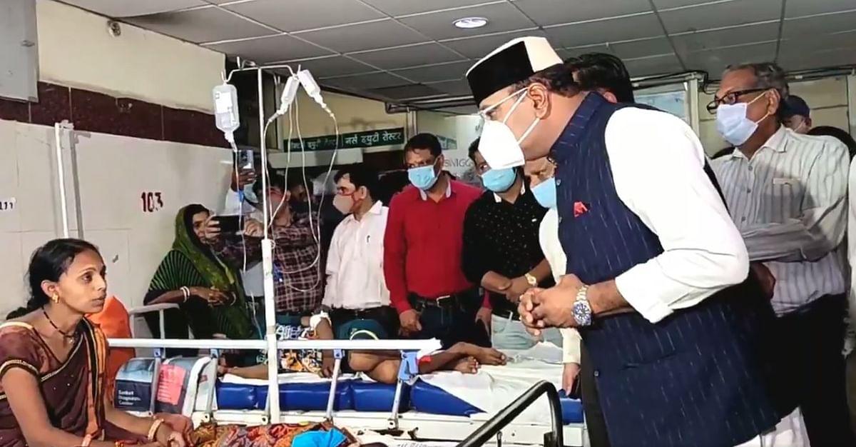 Bhopal : विश्वास सारंग ने हमीदिया और कमला नेहरू अस्पताल का किया निरीक्षण