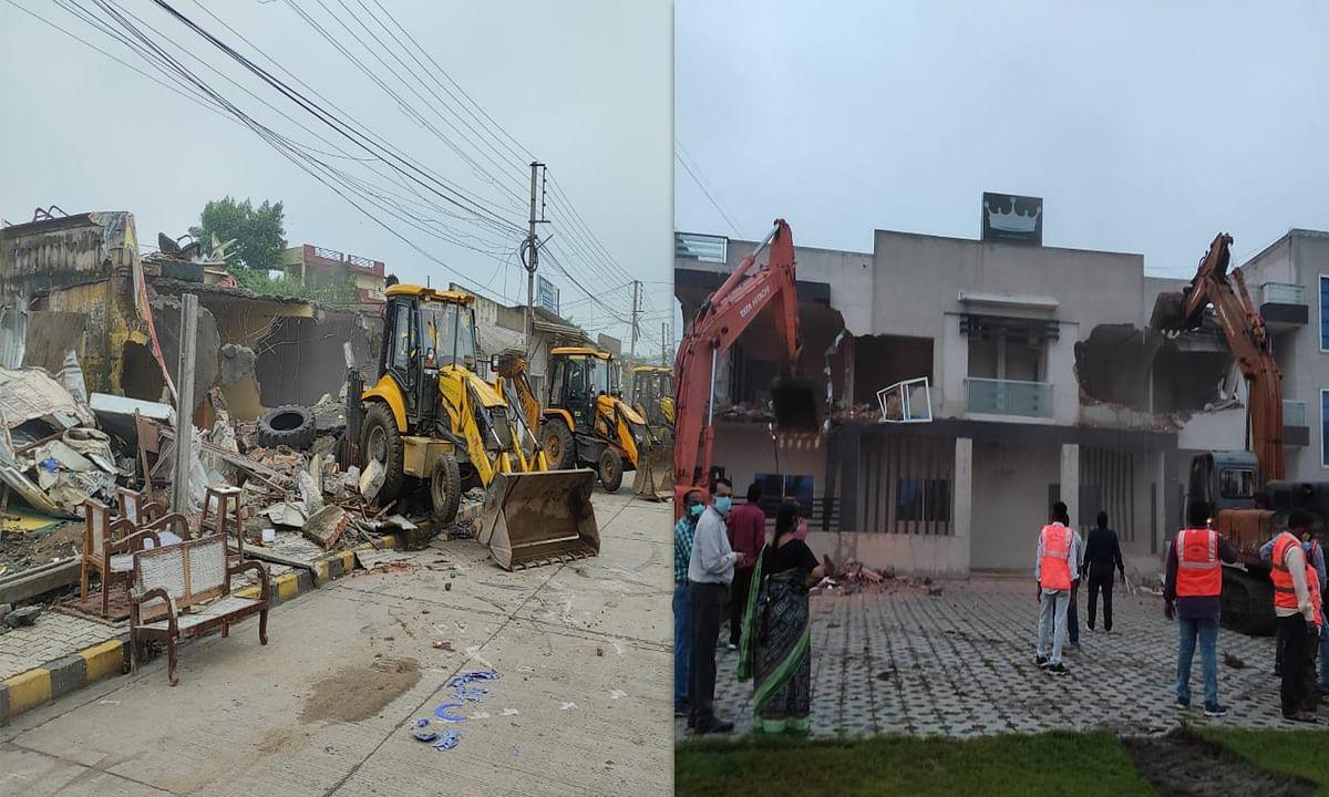 इंदौर में अतिक्रमण हटाने को लेकर सबसे बड़ी कार्रवाई, किए 2 गार्डन ध्वस्त