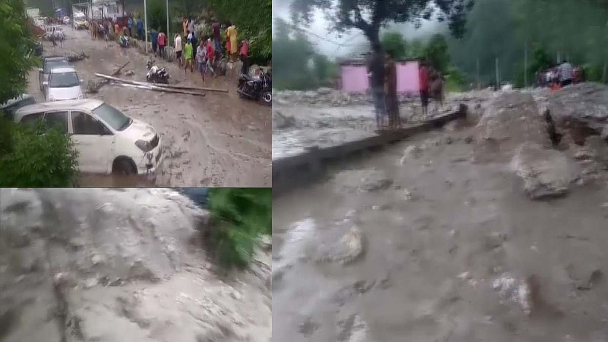 उत्तराखंड में चमोली जिले के पांगती गांव में बादल फटा