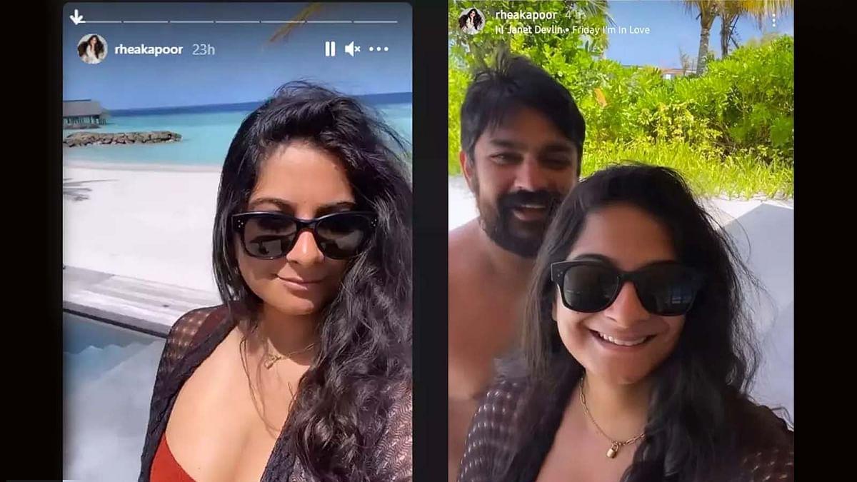 मालदीव में हनीमून एन्जॉय कर रही हैं Rhea Kapoor, वायरल हुई रोमांटिक तस्वीरें