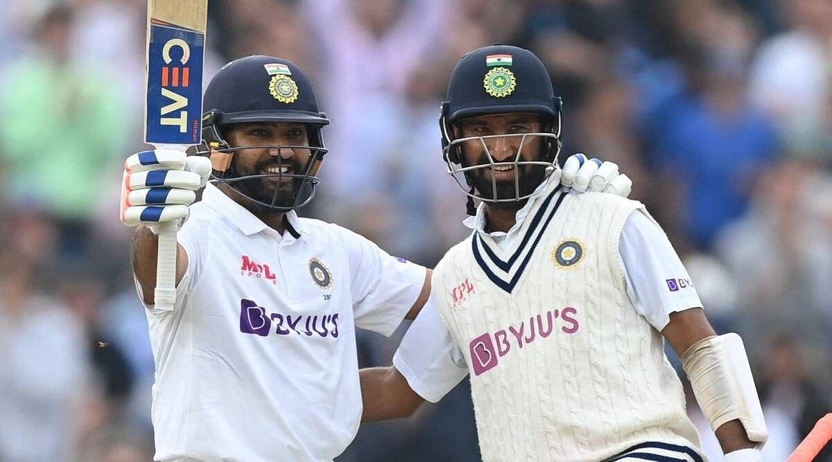 रोहित और पुजारा ने 153 रन की साझेदारी कर भारत को 171 रन की बढ़त दिलाई