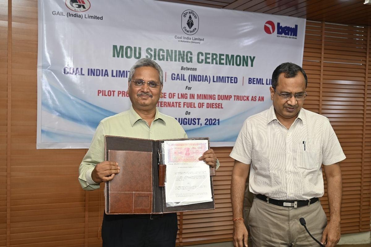 कोल इंडिया ने शुरू किया डंपरों में डीजल के बदले एलएनजी इस्तेमाल करने का पायलट प्रोजेक्ट
