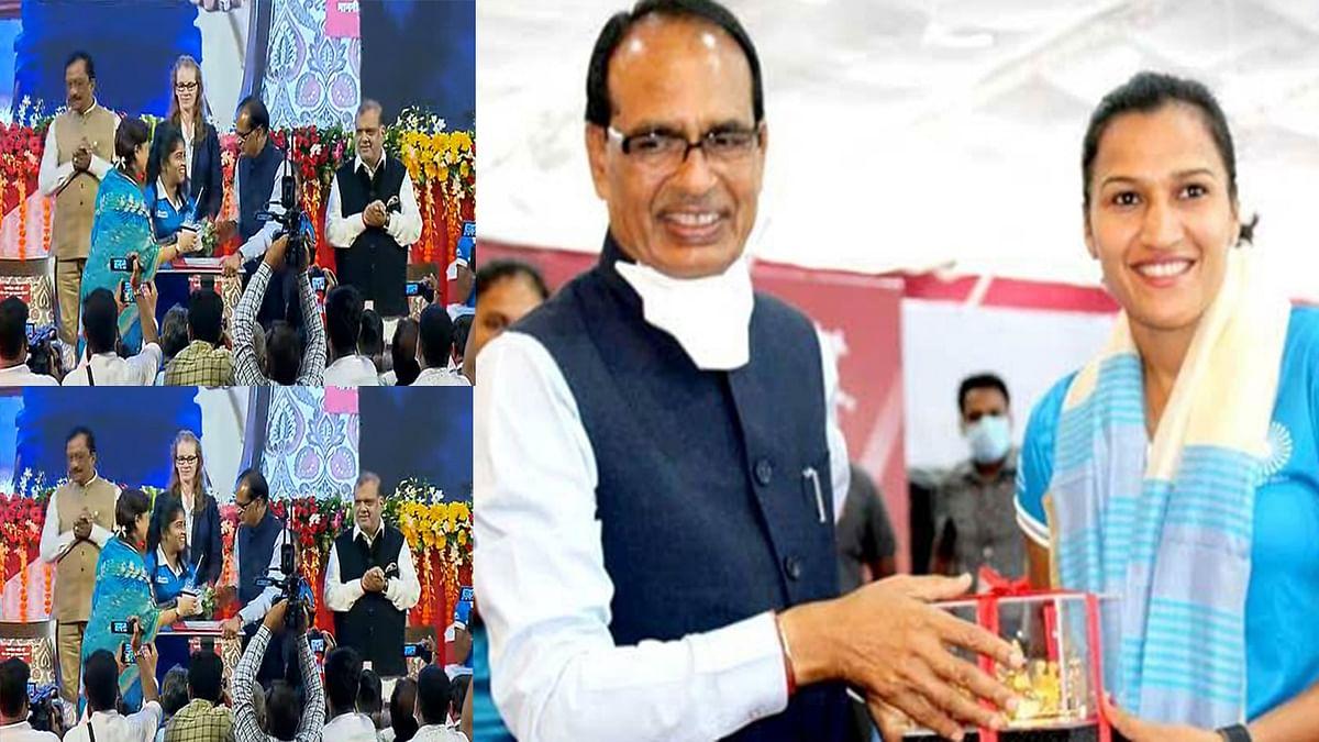 Bhopal: सीएम ने भारतीय महिला हॉकी टीम के सदस्यों का किया सम्मान, ट्वीट कर कही ये बात