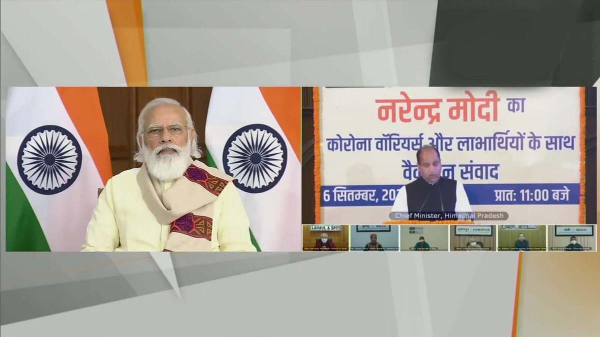 हिमाचल प्रदेश सबसे बड़ी महामारी के विरुद्ध लड़ाई में चैंपियन बनकर सामने आया: PM मोदी