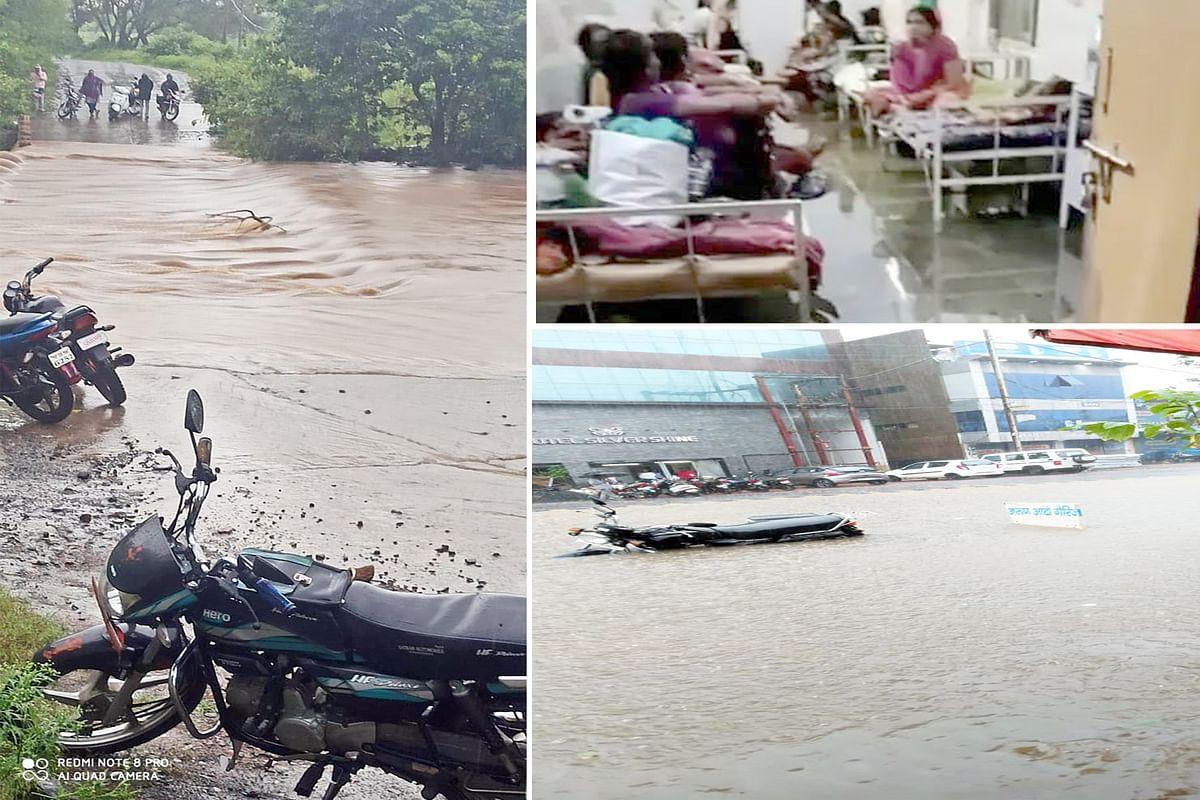 छिंदवाड़ा : मूसलाधार बारिश से अस्पताल में भरा पानी, सड़कें डूबीं, आवागमन हुआ प्रभावित