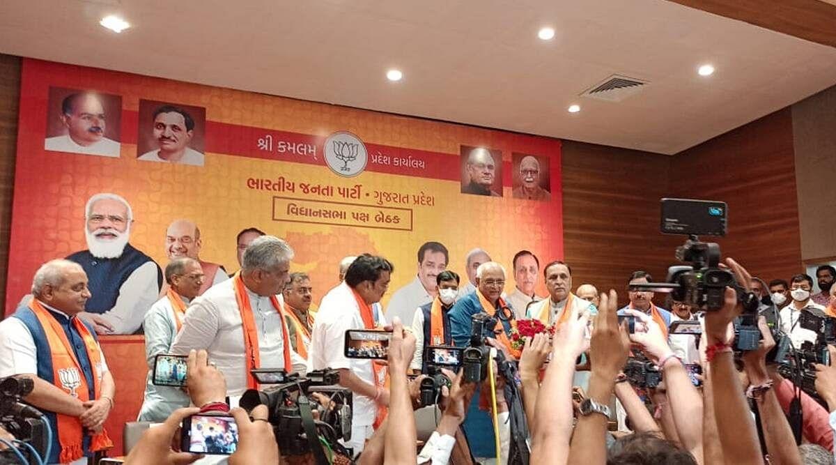 गुजरात के CM की कुर्सी अब भूपेंद्र पटेल के हाथ- चुने गए विधायक दल के नेता