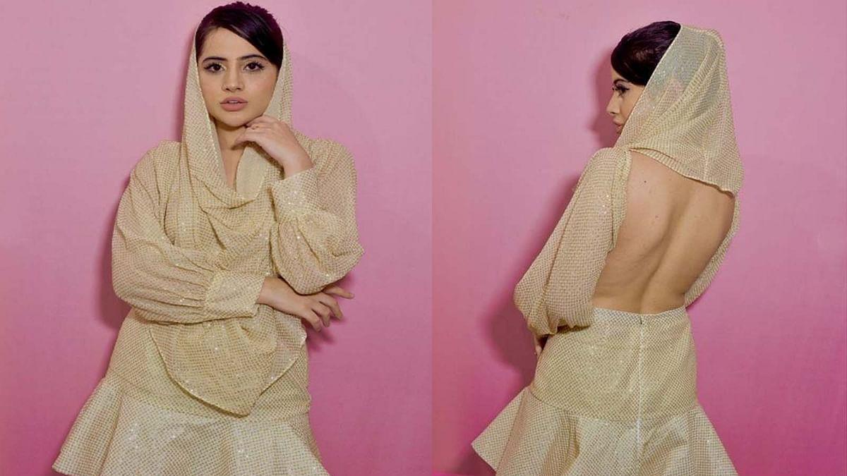 एक बार फिर अपनी ड्रेस को लेकर चर्चा में उर्फी जावेद, इस लुक में आईं नजर