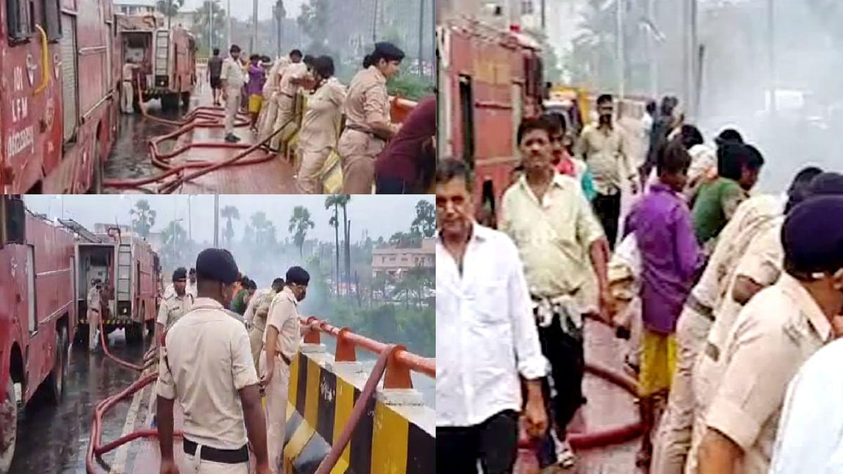 बिहार के पटना में अहले सुबह बड़ा हादसा- कुरकुरे फैक्ट्री में लगी भीषण आग