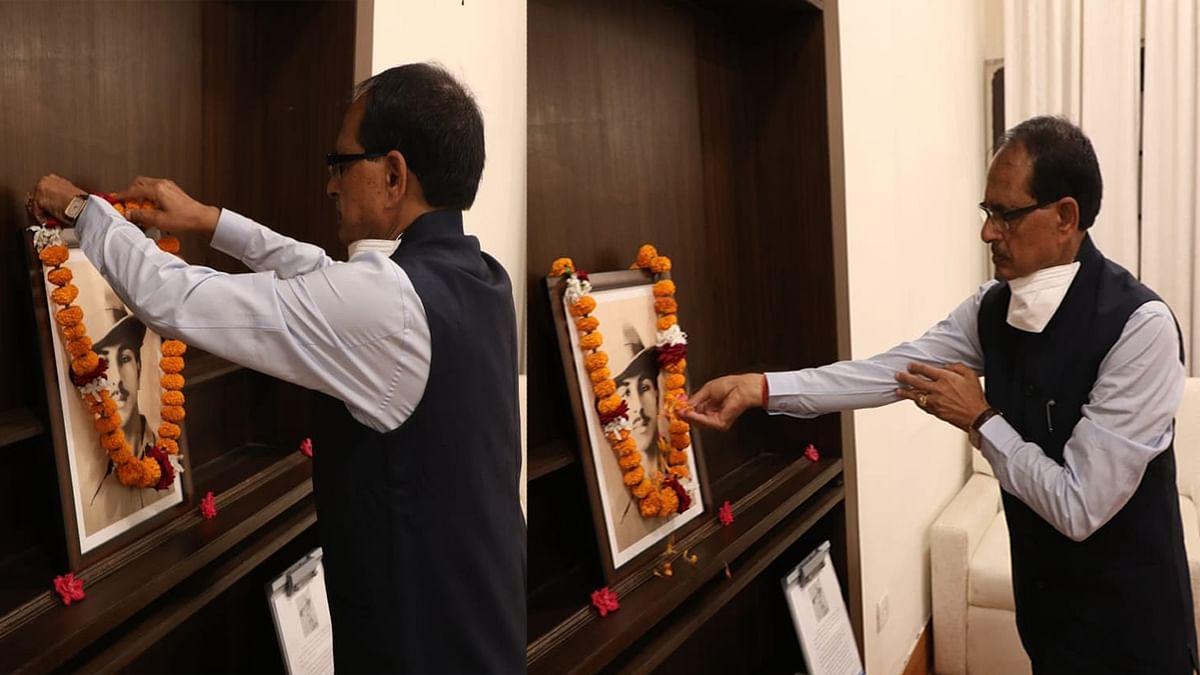 अमर शहीद भगत सिंह की जयंती पर CM ने उनके चित्र पर माल्यार्पण कर किया सादर नमन