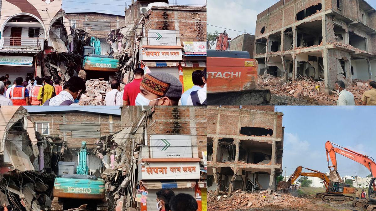 Indore: पिपल्याराव में कब्जा जमाए भू-माफिया पर बड़ी कार्रवाई, सपना बार को भी किया ध्वस्त