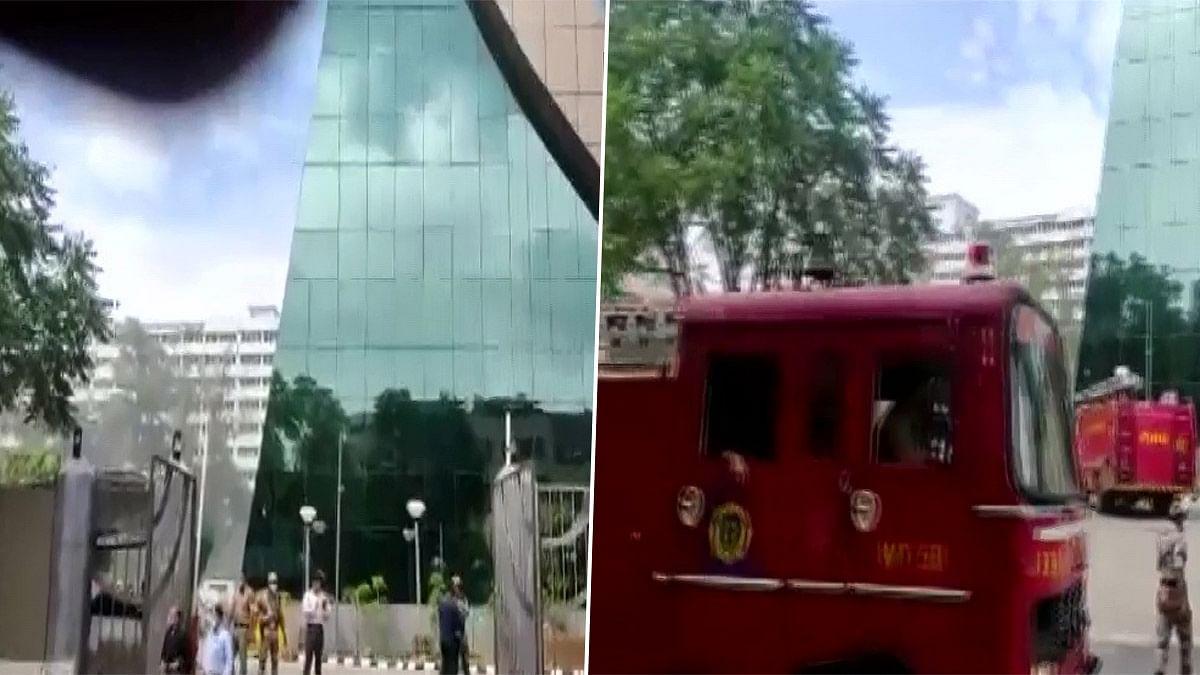 दिल्ली के लोधी रोड इलाके में CBI बिल्डिंग के बेसमेंट में भभकी आग