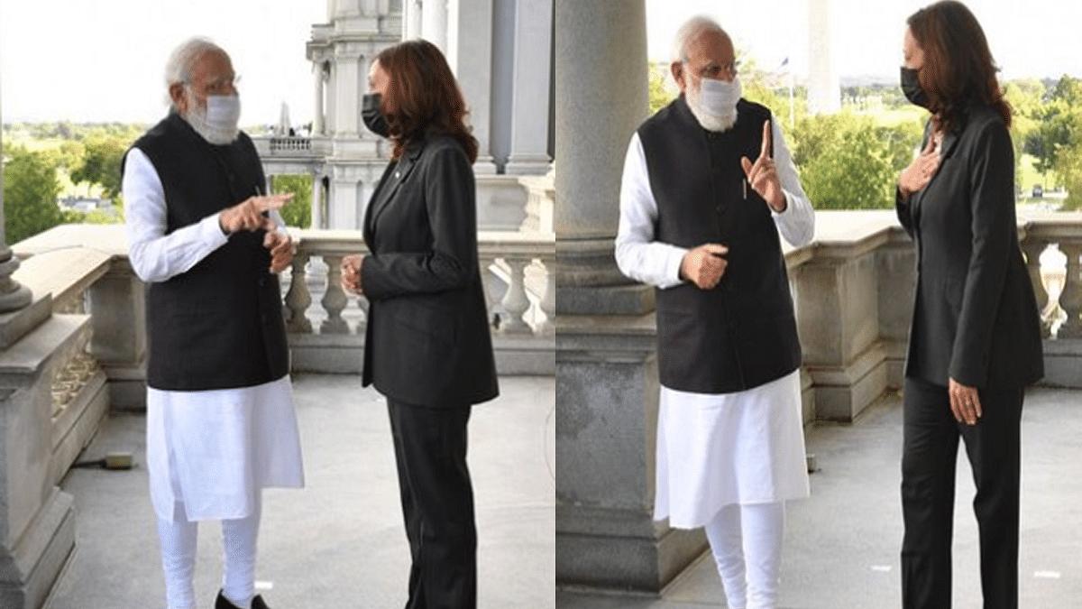 मोदी ने की कमला हैरिस से मुलाकात, भारत आने का दिया न्योता
