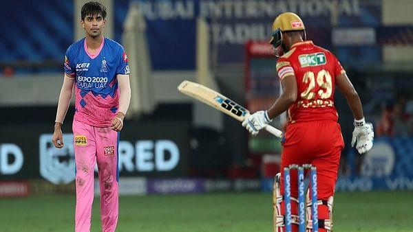 त्यागी का चमत्कार, राजस्थान ने पंजाब को दो रन से हराया
