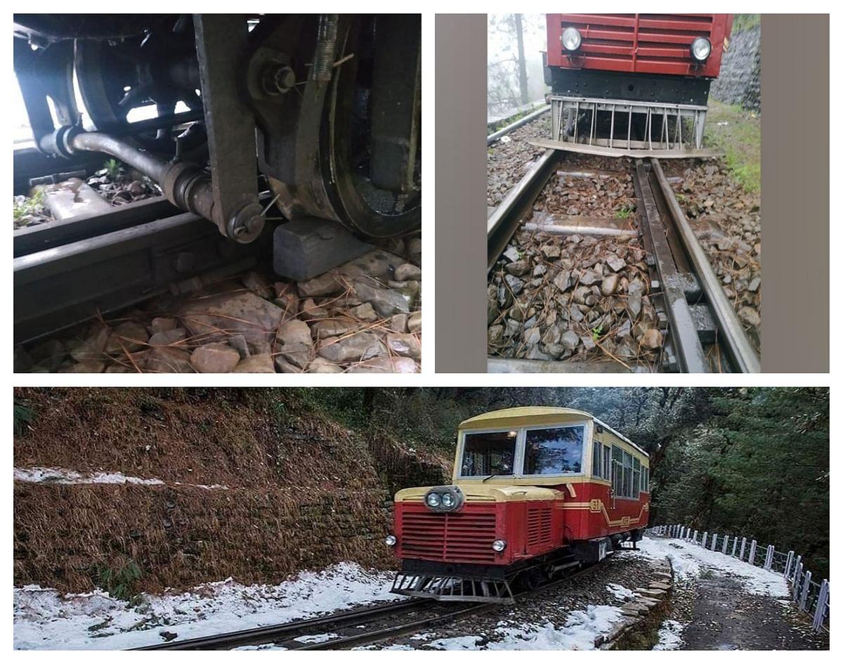 कालका-शिमला खंड पर रेल कार पटरी से उतरी