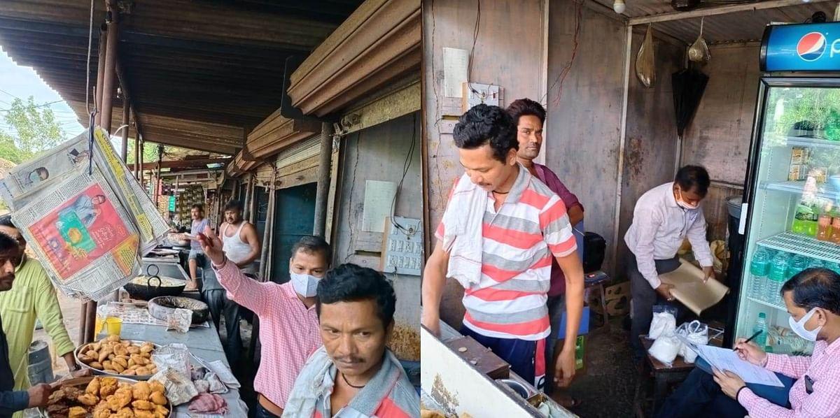 फूड सेफ्टी ऑफिसर उतरे बाजार में, एक सैंपल लिया आधा दर्जन दुकानों की जांच की