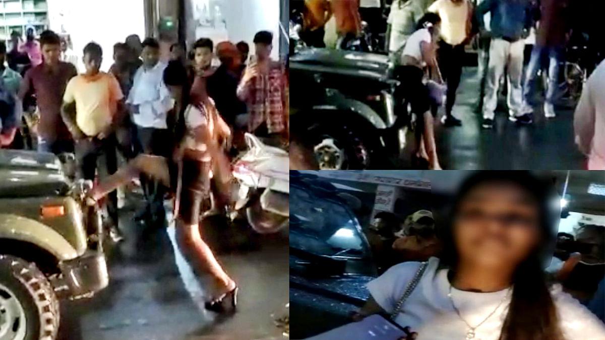 Gwalior: नशे की हालत में युवती ने सड़क पर किया हंगामा, सेना की जिप्सी मेंं की तोड़फोड़