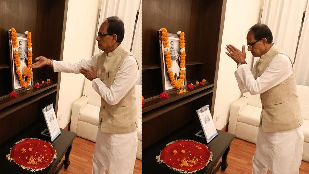 सीएम शिवराज ने Ishwar Chandra Vidyasagar की जयंती पर उनके चित्र पर किया माल्यार्पण