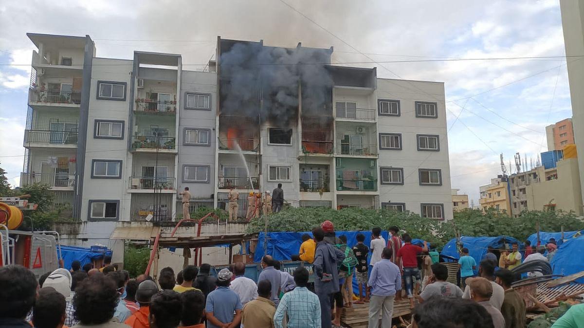 IIM बेंगलुरु के पास इमारत में भीषण आग