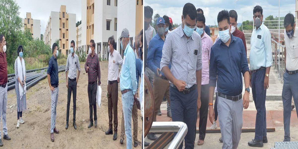 सागर : नवागत कलेक्टर ने नगर निगम के विभिन्न निर्माण कार्यों का किया निरीक्षण