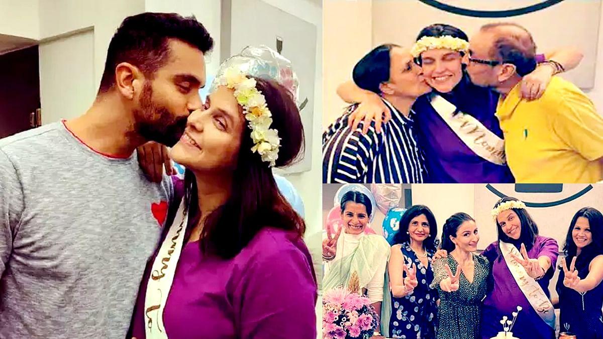 नेहा धूपिया के लिए अंगद बेदी ने रखी बेबी शावर पार्टी, शेयर की हैं तस्वीरें और वीडियो