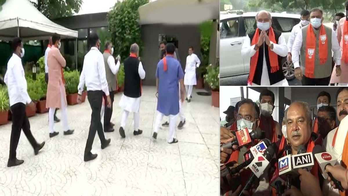 गुजरात का अगला CM कौन- मंथन के लिए तोमर गुजरात के BJP अध्यक्ष के आवास पहुंचे