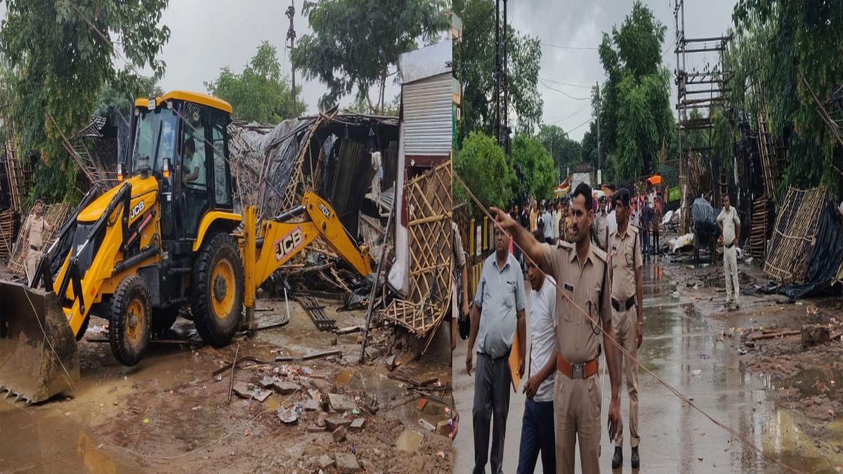 Bhind : पुराने रेलवे की जमीन को अतिक्रमण से जीआरपीएफ ने कराया मुक्त
