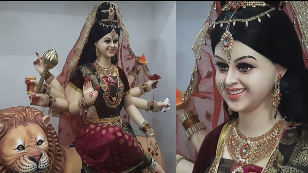 MP के मूर्तिकार ने बनाई देवी मां की मनमोहक मूर्ति, वायरल हो रहीं ये तस्वीरें