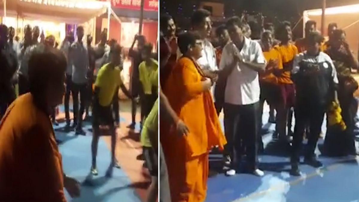 भोपाल सांसद Pragya Thakur ने खेली कबड्डी, कांग्रेस ने ली चुटकी