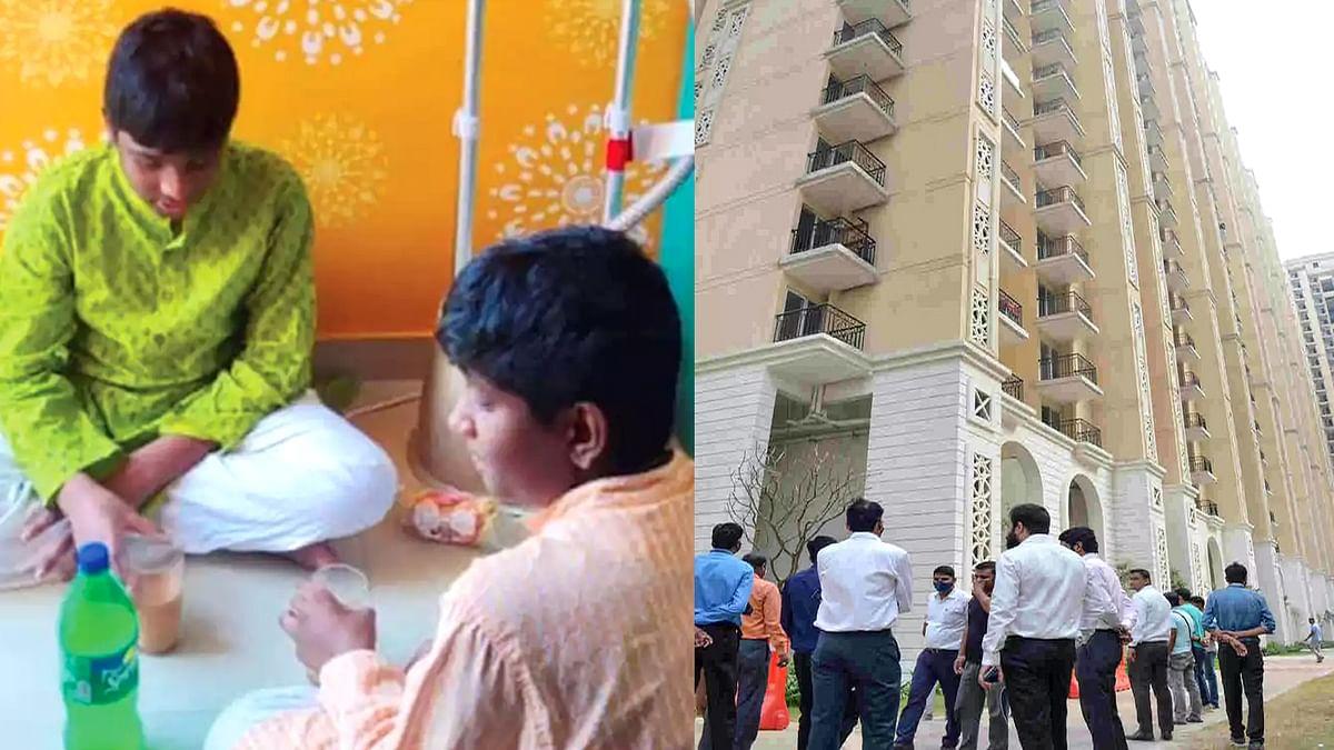 UP के गाजियाबाद में खेलते-खेलते 2 जुड़वां बच्चे 25वीं मंजिल की बालकनी से गिरे
