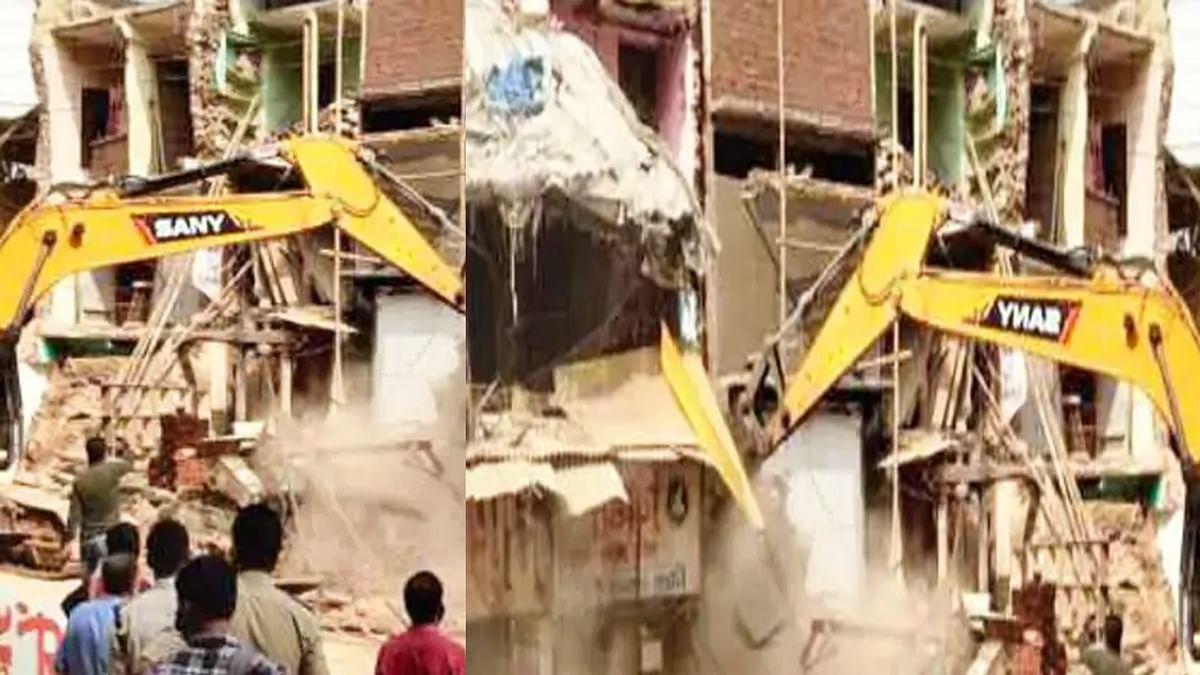 आज इंदौर में हुई बड़ी कार्रवाई: गणपति इलाके में नगर निगम ने ढहाए 6 मकान