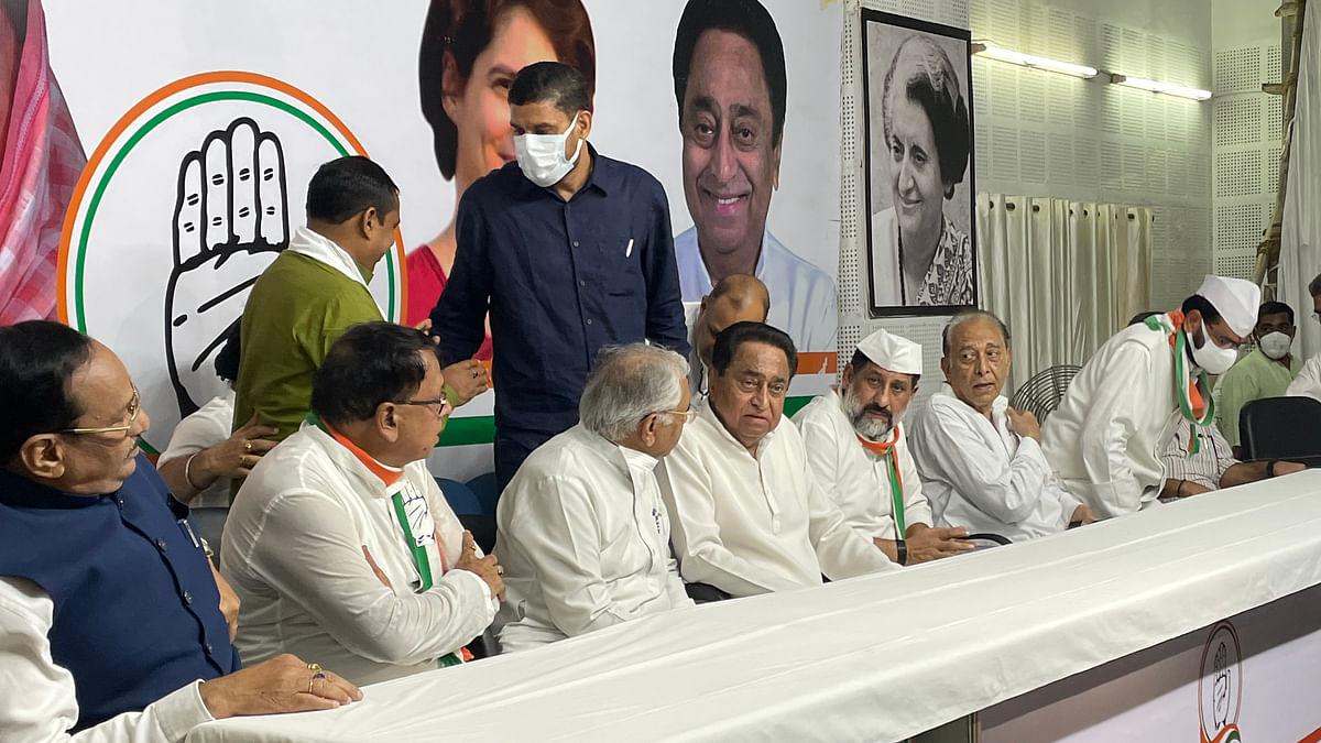 प्रदेश कांग्रेस कार्यालय में आयोजित जयंती कार्यक्रम में शामिल हुए पूर्व सीएम कमलनाथ