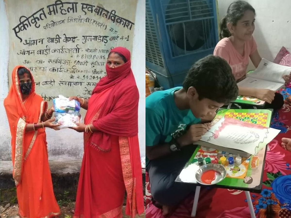 Singrauli : ज्योत्सना महिला समिति ने गर्भवती महिलाओं को बांटी स्वच्छता किट